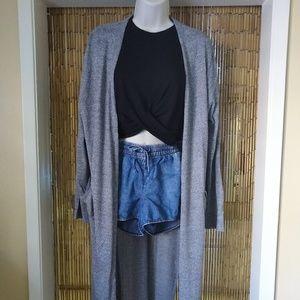 H&M long open-front cardigan